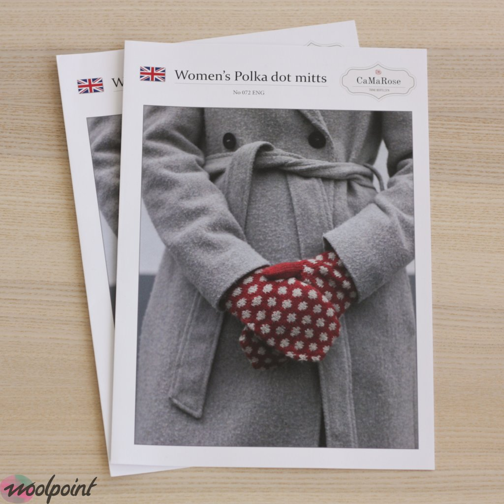 Women's Polka dot mitts