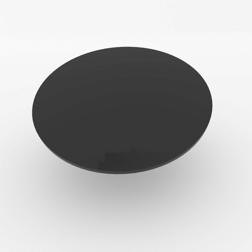 stolova deska kulata cerna