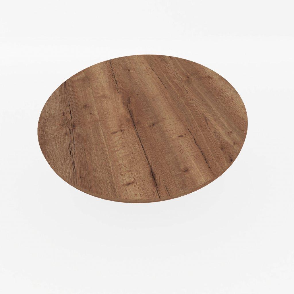 stolova deska kulata halifax tabakovy