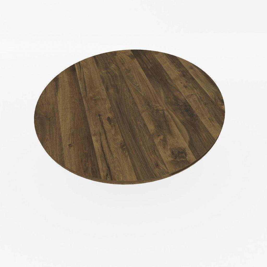 stolova deska kulata hunton tmavy