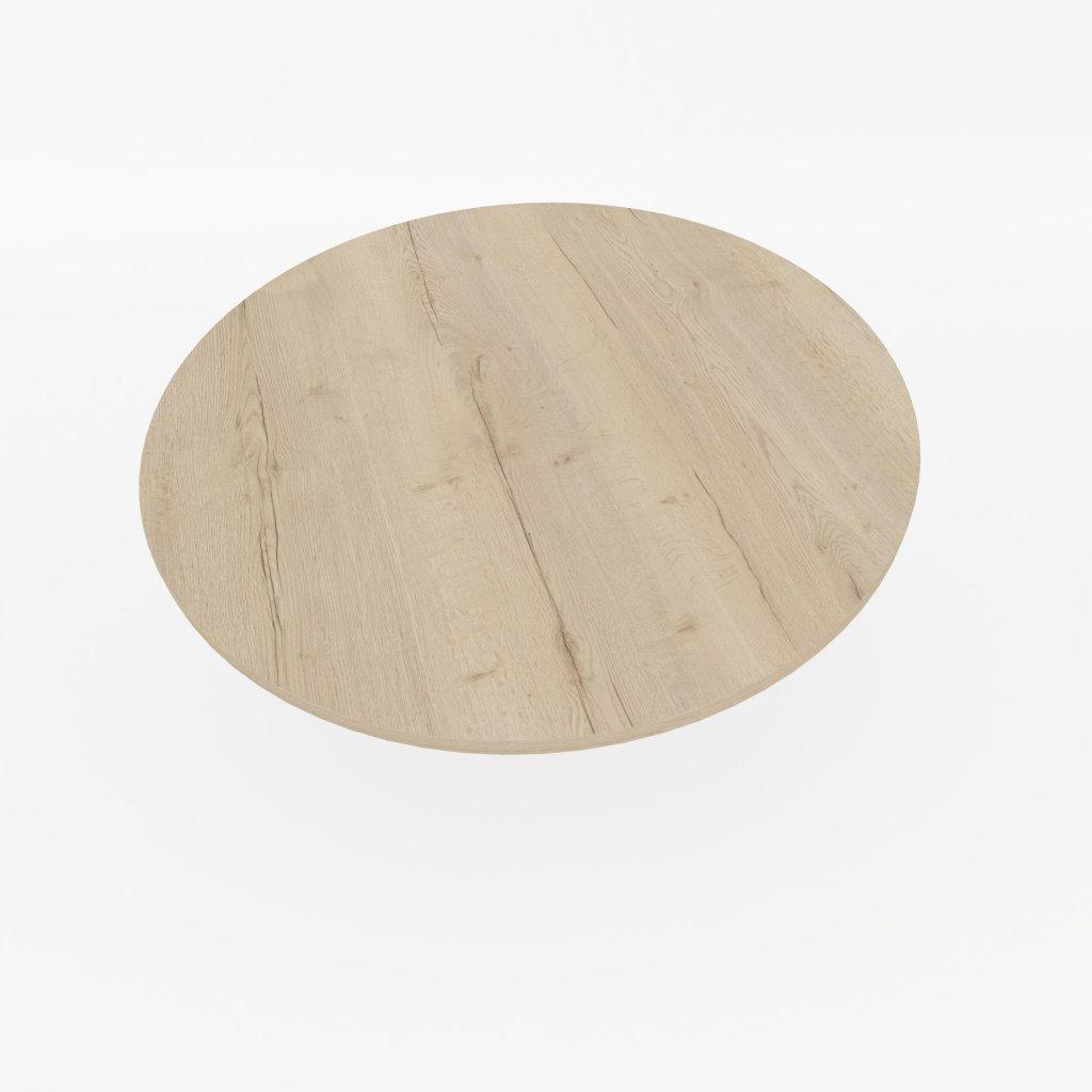 stolova deska kulata halifax bily
