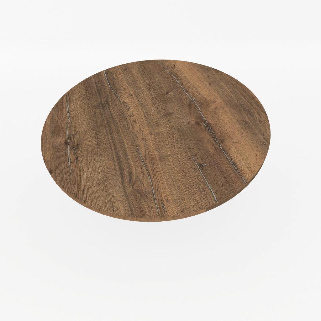 stolova deska kulata halifax cinovy