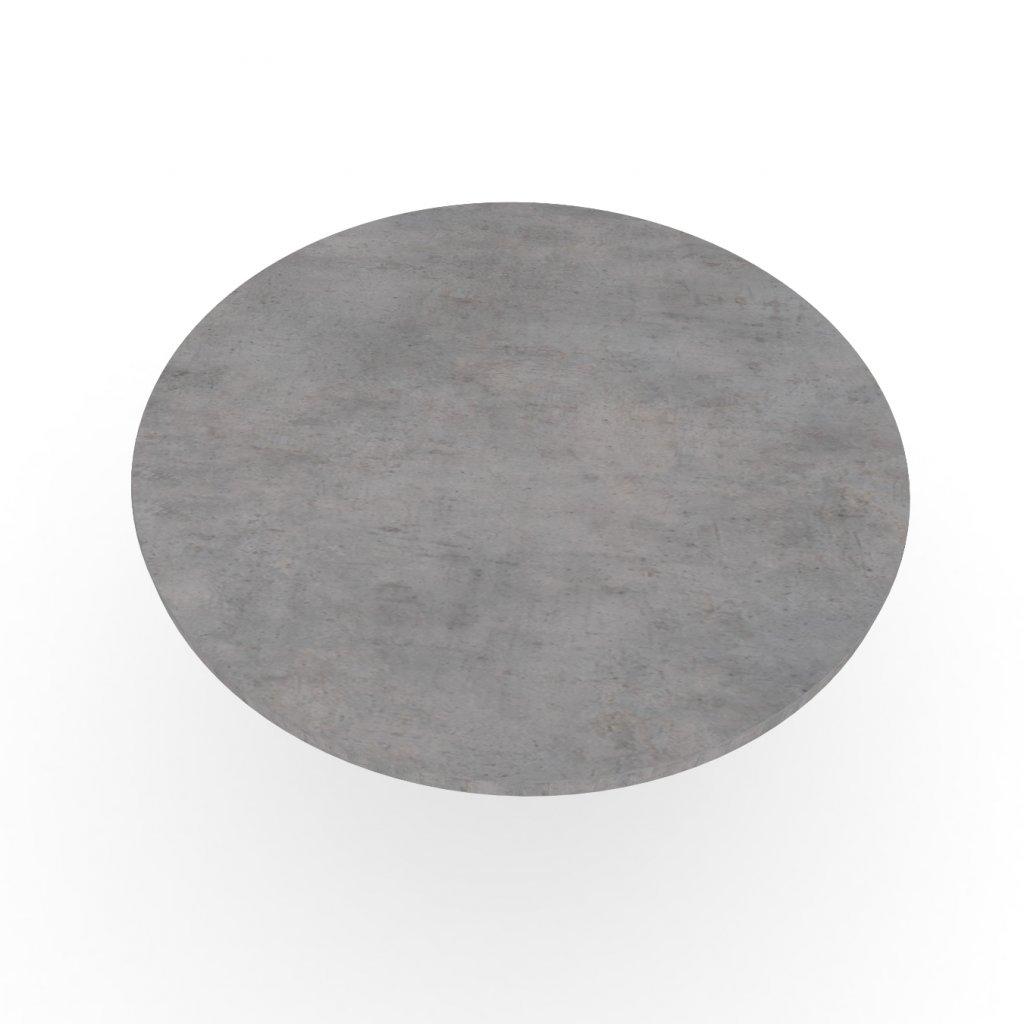 Wooders Czechia stolova deska kruhova beton chicago svetle sedy