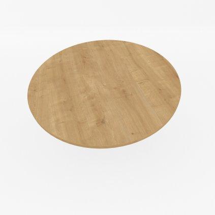 stolova deska kulata hamilton prirodni