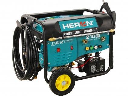 vysokotlaký motorový čistič s dálkovým ovládáním, el. startem, samonasáváním vody a šamponovačem, 210bar  8896350
