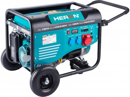 elektrocentrála benzínová 15HP/6,8kW/8,5kVA (400V), 5,5kW (230V), podvozek  8896418