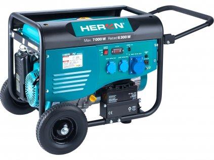 elektrocentrála benzínová 15HP/7,0kW, pro svařování, elektrický start, podvozek  8896421