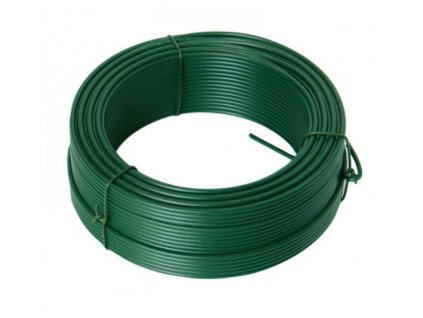 Napínací drát 3,4mmx52M zelený PVC  42256