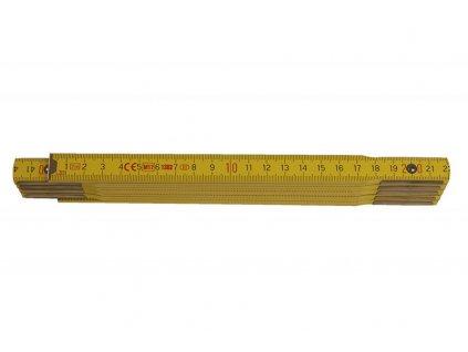Metr skládací 2m - PROFI dřevo žlutý  13022