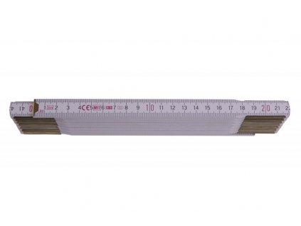 Metr skládací 3m - PROFI dřevo bílý  13030