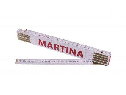 Metr skládací 2m MARTINA (PROFI, bílý, dřevo)  13462