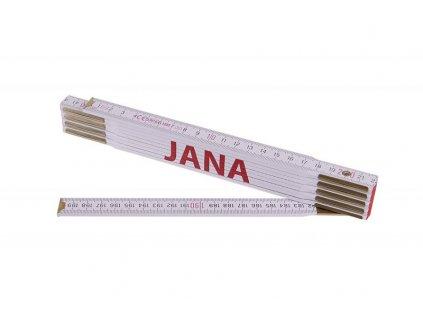 Metr skládací 2m JANA (PROFI, bílý, dřevo)  13451