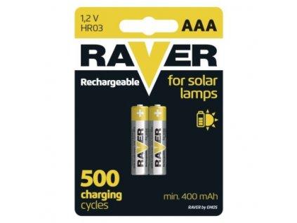 Nabíjecí baterie do solárních lamp RAVER AAA (HR03) 400 mAh  B7414
