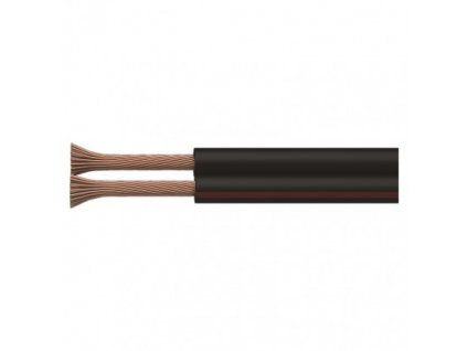 Dvojlinka nestíněná 2x0,15mm černo/rudá, 200m  S8130