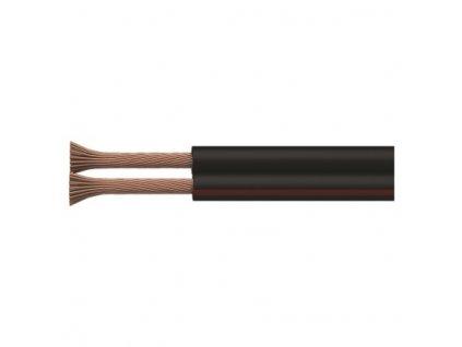 Dvojlinka ECO 2x1,0mm, černo/rudá, 100m  S8283