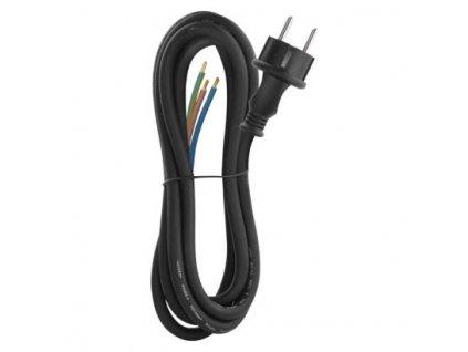 Flexo šňůra gumová 3× 2,5mm2, 3m, černá  S03430