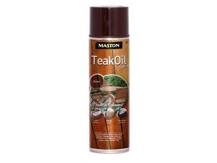Maston spray TEAK OIL BROWN hnědý 400ml