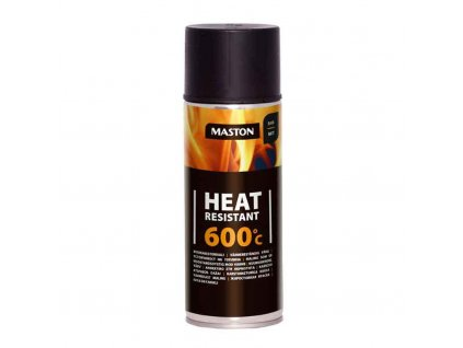 Maston spray HEAT RESISTANT 600°C BLACK MATT černá matná 400ml