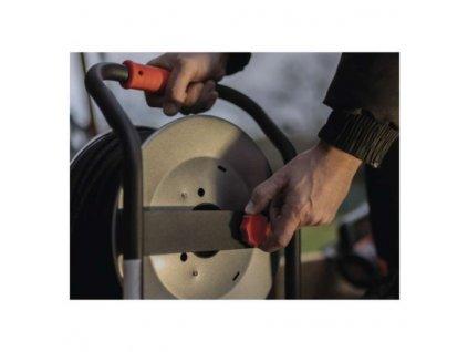 Guma-guma prodluž. kabel, buben kovový – 4z, 25m, 1,5mm2  P084255