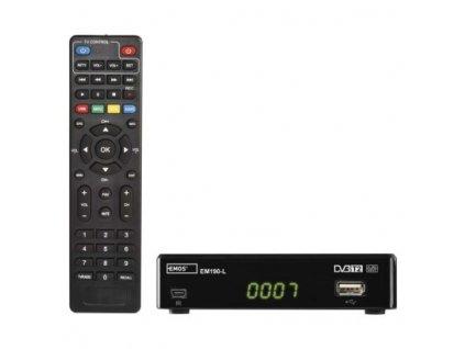 Set-top box EMOS EM190-L HD HEVC H265 (DVB-T2)  J6015