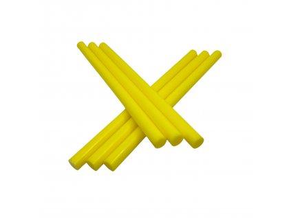 Tavné lepidlo barevné tyčinky žlutá