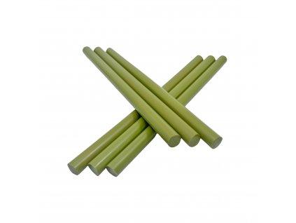 Tavné lepidlo barevné tyčinky zelená oliva