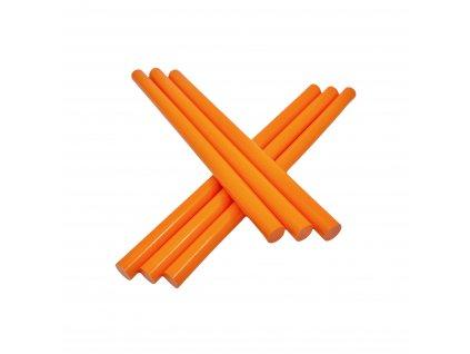 Tavné lepidlo barevné tyčinky oranžová