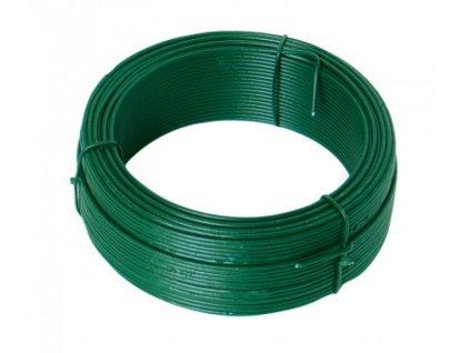 Vázací drát 2,0mmx50M zelený PVC  42249