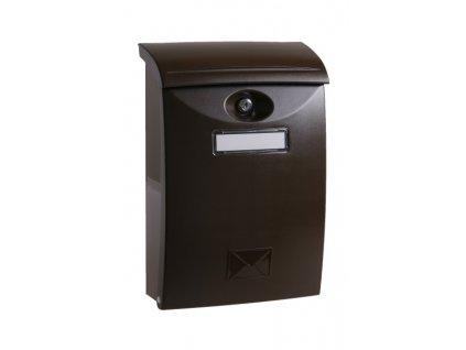 Poštovní schránka PVC hnědá 24x10,5x34,5cm  70114