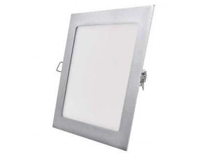 LED panel 225×225, čtvercový vestavný stříbrný, 18W neutr.b.  ZD2242