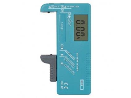 Univerzální tester baterií (AA, AAA, C, D, 9V, knoflíkových)  N0322