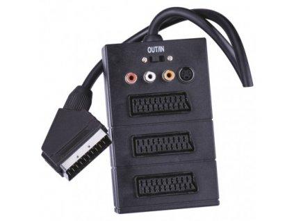 AV kabel SCART - 3x SCART + 3x CINCH + 1x SVHS 0,5m  SB2300