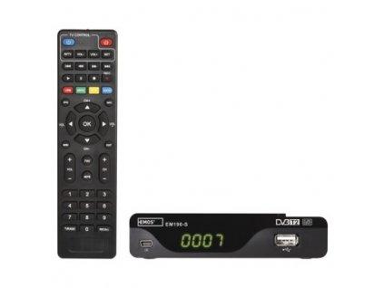 Set-top box EMOS EM190-S HD HEVC H265 (DVB-T2)  J6014
