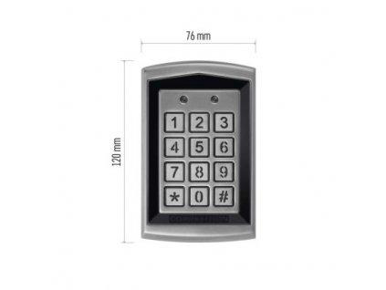 Kódová klávesnice DH16A-30DT se čtečkou RFID klíčenek,kovová  H8011