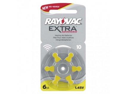 Baterie do naslouchadel RAYOVAC H10MF, blistr  9RH010