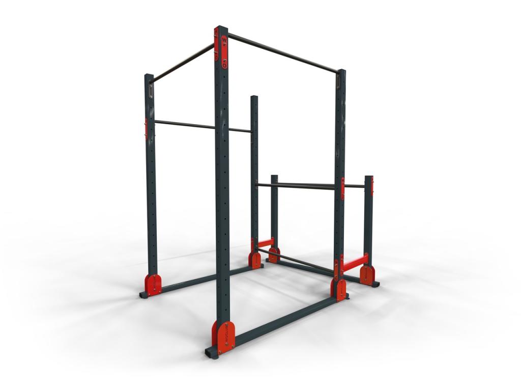 Multifunkční přenosné hřiště ACTIVE SQUARE na workout na trénink s vlastní vahou.