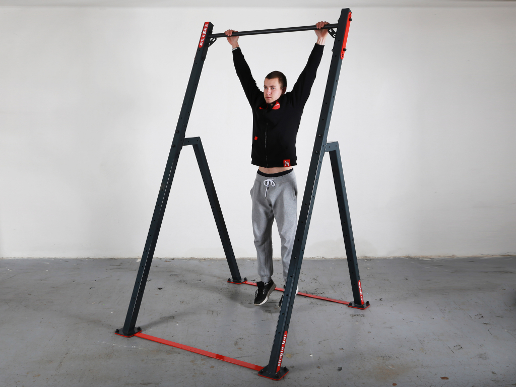 Street workout SINGLE BAR home bar for pull up mate