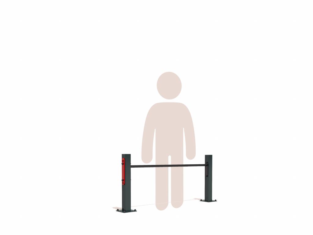 Jednoduchá rovná hrazda na zahradu GARDEN SINGLE BAR LOW nízká push up bar