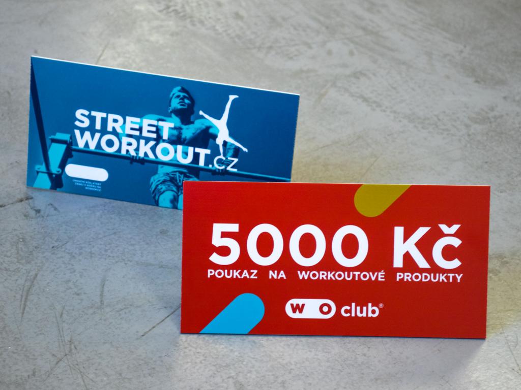 Dárkový poukaz WOUCHER na nákup workoutového zboží na WOshop.cz v hodnotě 5000 Kč // WOshop.cz