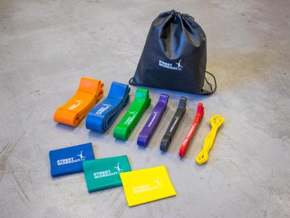 Balíček všech silikonových odporových gum, které jen můžeš chtít a potřebovat ke svému tréninku. Obsahuje jak krátké odporové gumy na hýždě a trénink nohou, tak klasické odporové gumy, tak power bandy.