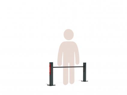 Jednoduchá venkovní hrazda GARDEN SINGLE BAR LOW určená k trvalé instalaci na zahradě. Nízká výška hrazdy je ideální pro kliky - push up bar, trénink nohou a balanci. Vhodná také jako dětská hrazda.