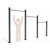 TřI rovné hrazdy GARDEN TRIPLE BAR TOP+HI+MID určené k trvalé instalaci na zahradě. Vyšší výšky hrazd jsou ideální pro trénink a striktní provedení shybu - pull up, nebo muscle up s nataženýma nohama. Vhodná pro uživatele středního a vyššího vzrůstu.