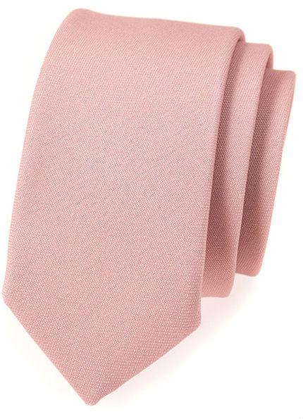 Jednobarevné slim kravaty (bez vzoru)