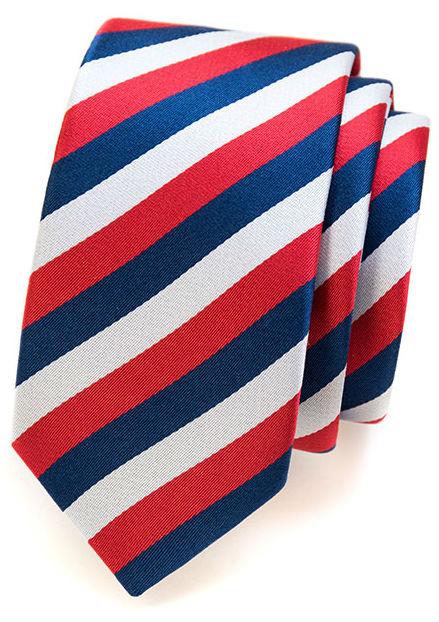 Slim kravaty s pruhy
