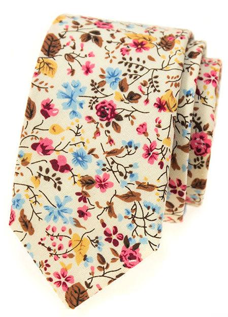 Slim kravaty se vzorem