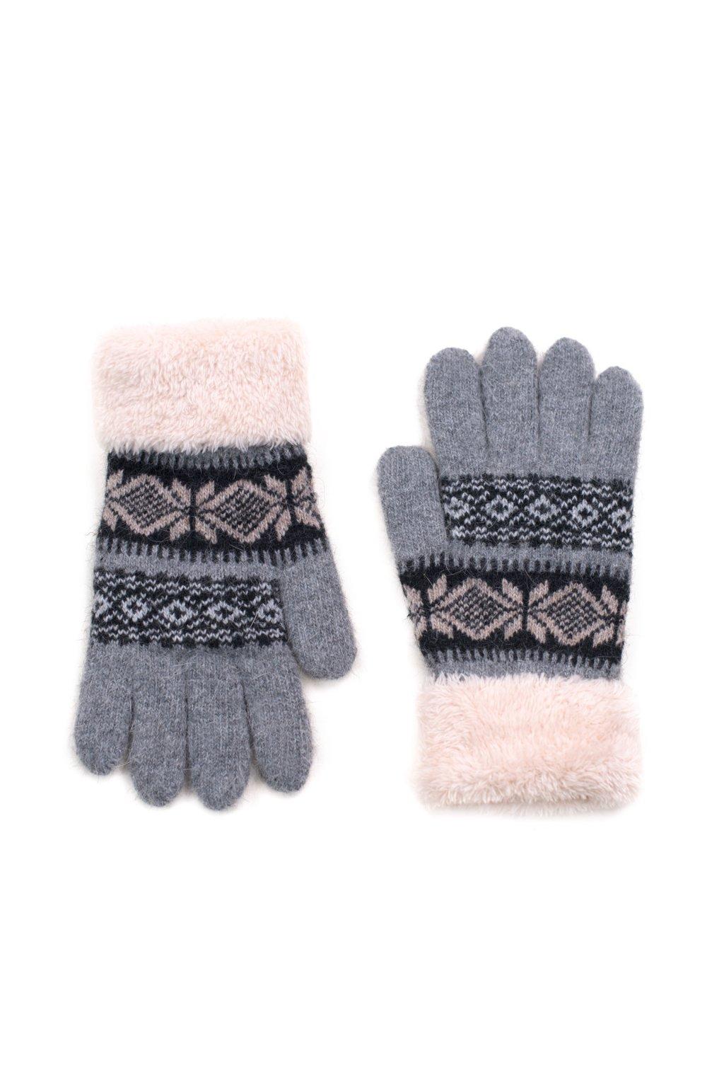Zimní rukavice - skandinávský styl