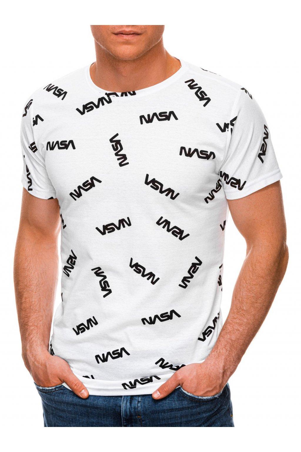 Pánské tričko s potiskem S1391 - bílá