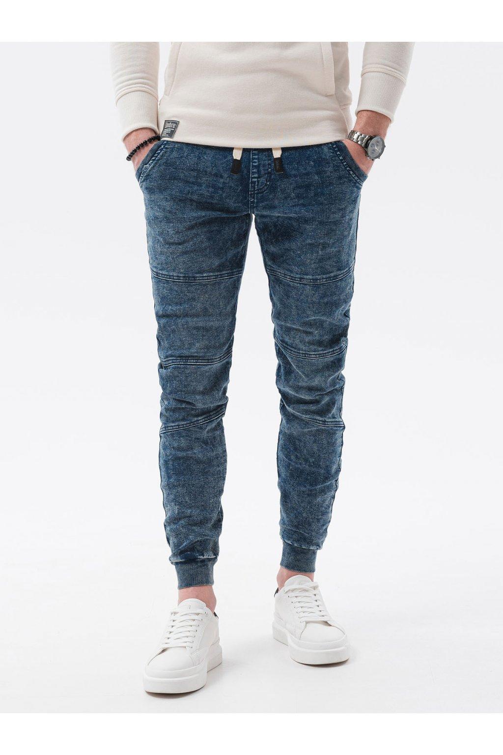 Pánské jogger jeans P551 - modrá