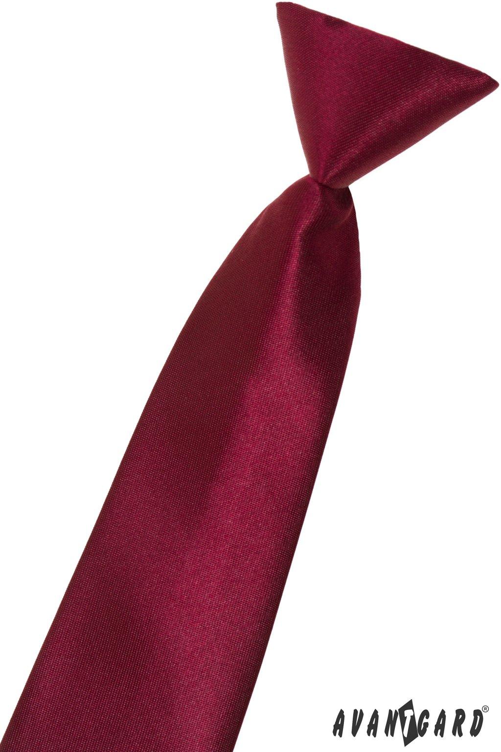 Lesklá vínová dětská kravata