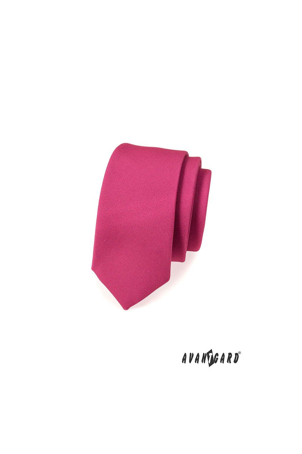 Tmavší fuxiová slim kravata